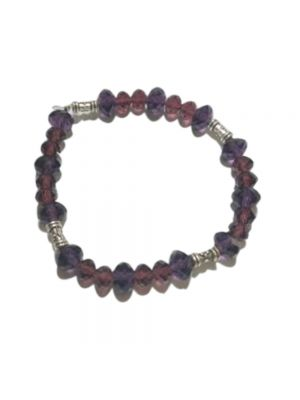 Beautiful Purple And Red Color Stretchable bracelet