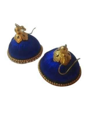 Blue Silk Thread Jhumki