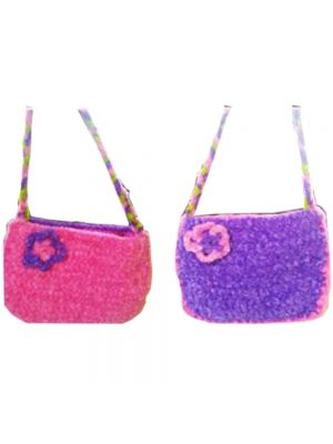 Crochet Dual Coloured Feather Bag