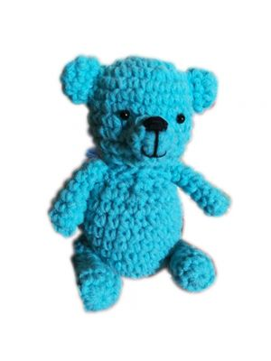 Handmade Blue Teddy-bear
