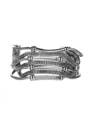 Vintage Byzantine Silver Mesh Chain Bracelet