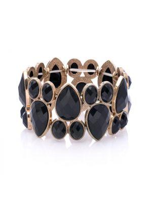 Trinity Black Stone Owl Bracelet