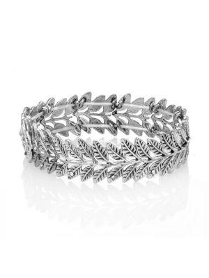 Leaf Frond Silver Bracelet