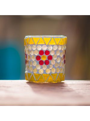Mosiac Candle Holder