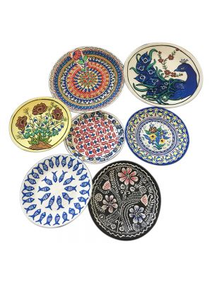 Hand Crafted Wall Decor 7 - Ceramic Painted Plate (combination 1)
