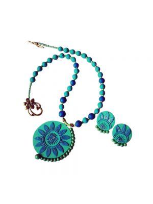 Sea-green Polymer Clay Jewellery