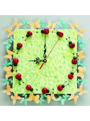 Wall Clock with lady bugs