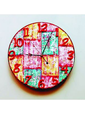 Clock Rustic and Vintage Wall Clock - Wood look