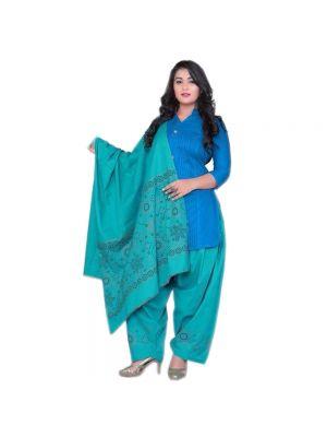 Ethnic Bandaj Designs Patiyala With Combination Of Dark Blue