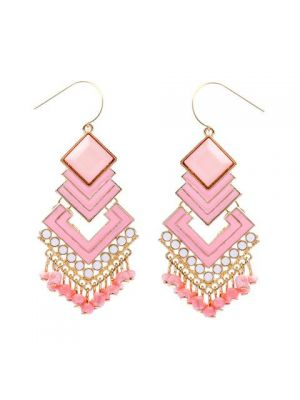 Abree Aztec Beaded Drop Earrings