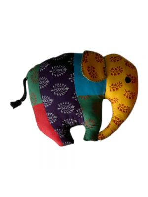 Block Printed Patchwork Elephant