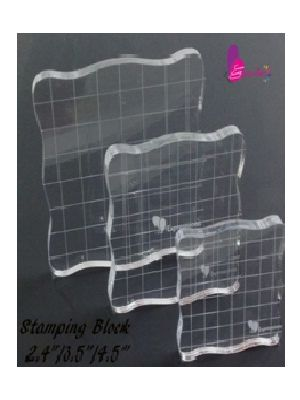 Square Acrylic Stamping Block- Set of 3