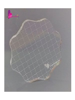 Round Acrylic Stamping Block- Medium