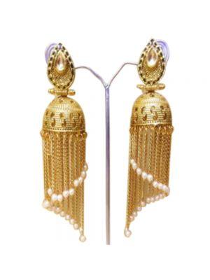 Gold-Plated Jhumka Earrings