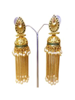 Gold-Plated Jhumkas Earrings