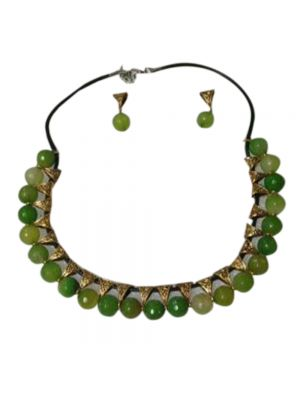 Glass Green Beed Jewellery
