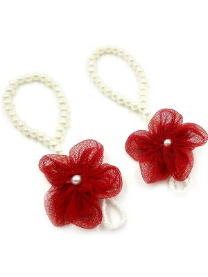 Newborn Baby Girls Flower Sandals Pearl Barefoot