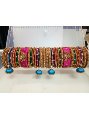 multi coloured bangles set (chura)