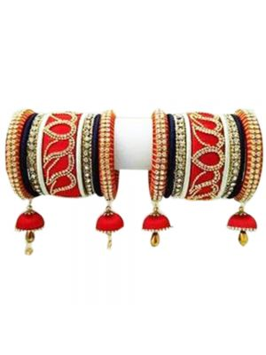 Jhumki Jhumka Silk Thread Bangles