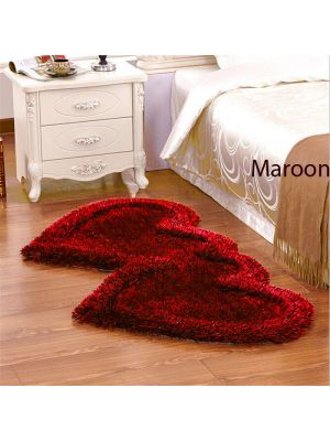 Maroon Colour Bed Side Runner