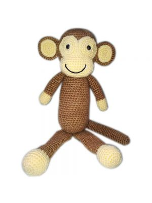 Handmade Crochet Monkey Doll