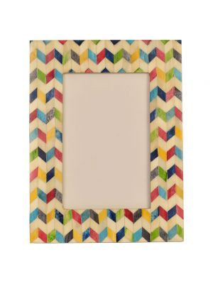 PHOTO FRAME- 4*6 BONE & WOOD