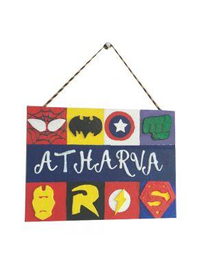 Superhero Nameplate