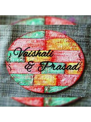 Home Nameplate OVAL Rustic and Vintage look
