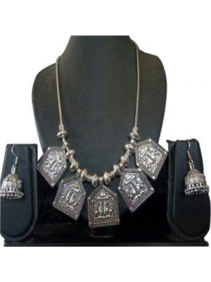 Charan Paduka Oxidised Silver Jewellery