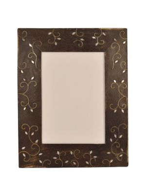 Photo Frame- 5*7 Handicraft & Hand painted Brass & Wooden Carving