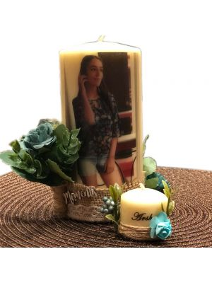 Personalized Photo Candle By Candleliciouss