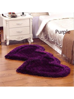 Purple Colour Bed Side Runner