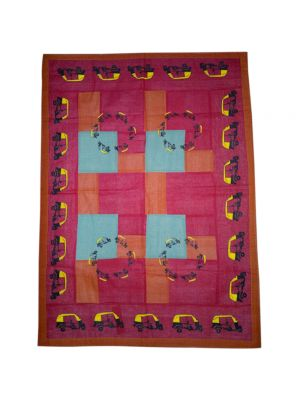 Patchwork Block Printed Baby Quilt