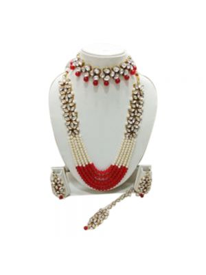 Ethnic Traditional Necklace Set With Earrings