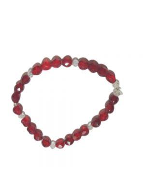 Red Color Stretchable Bracelet