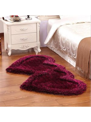 Red Colour Bed Side Runner