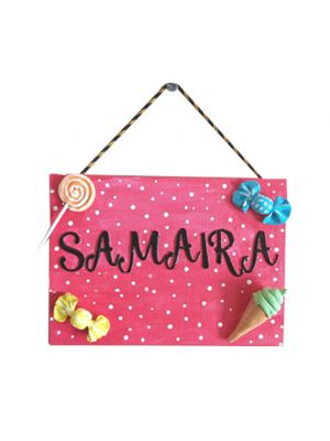 Candy Nameplate