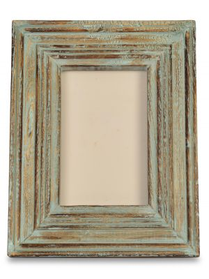 Handicraft & Hand distressed painted Wooden Carving Photo Frame 4*6