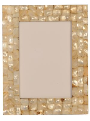 PHOTO FRAME- 4*6 MOTHER OF PEARL/SEA SHELL HANDCRAFTED PHOTO FRAME