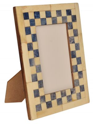 PHOTO FRAME- 3.5*5 HANDICRAFT, HAND CARVED BONE & WOOD PHOTO FRAME