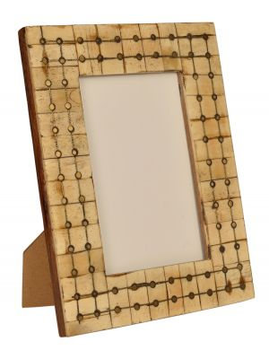 PHOTO FRAME- 4*6 WOODEN & BONE PHOTO FRAME