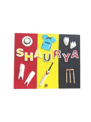 Cricket Kit Name Plate