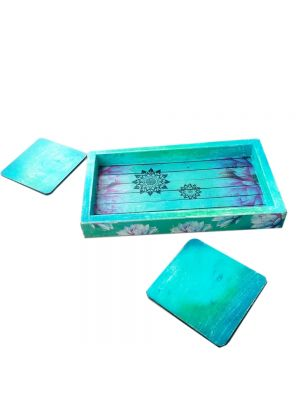 Tray And Coasters Set