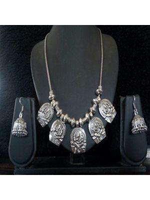 Ganesha Oxidised silver jewellery