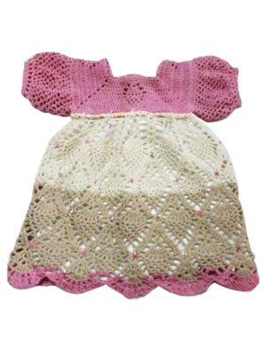 Crochet Pineapple Dress For Girls